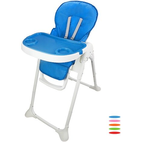 Baby Foldable Chair, Baby High Chair, Blue, Deployed size: 105 x 89 x 56 cm (41.3 x 35 x 22 inch)