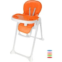 Baby Foldable Chair, Baby High Chair, Orange, Deployed size: 105 x 89 x 56 cm (41.3 x 35 x 22 inch)