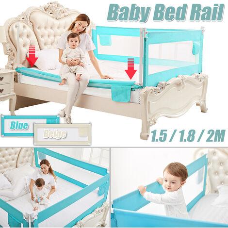 Baby Guard Bed Rail Toddler Safety Adjustable Kids Infant Bed Universal (beige, 180 cm)