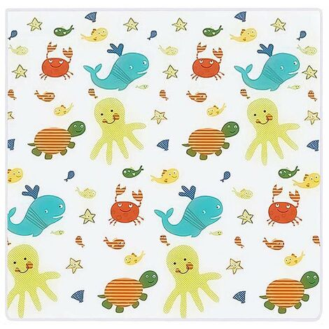Baby High Chair Mat, 130 * 130cm Baby Splash Mat, Waterproof and Non-slip Floor Protector Mat Baby Play Mat and Canvas Tablecloth