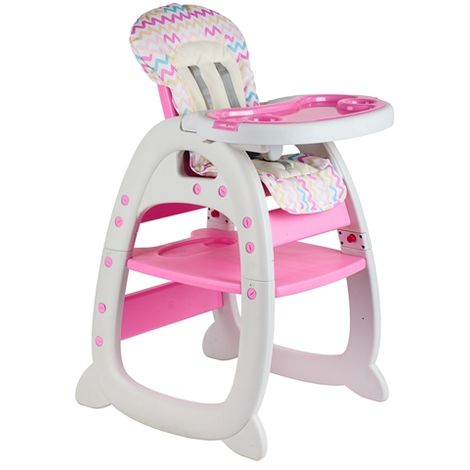 Baby Highchair 3in1 Pink