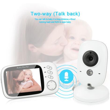 Baby Monitor con cámara - Video inalámbrico Baby Monitor para función de audio digital dual Función de intercomunicador de visión nocturna VOX 3.2