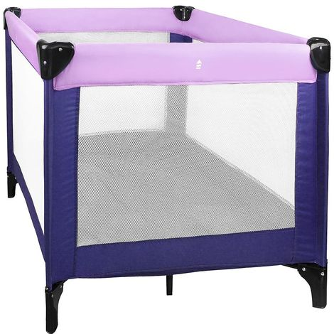 Baby Playpen, Travel Cot, CE standard, 93 x 93 x 76 cm (36.6 x 36.6 x 29.9 inch), Lilac/Purple, Maximum load: 55 lbs