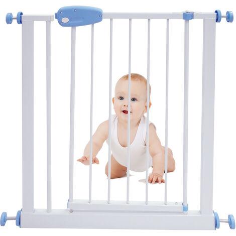 Baby-Sicherheitsgitter, Verstellbares Türgitter, 74 bis 87 cm, Weiß, Breite: 74-87 cm