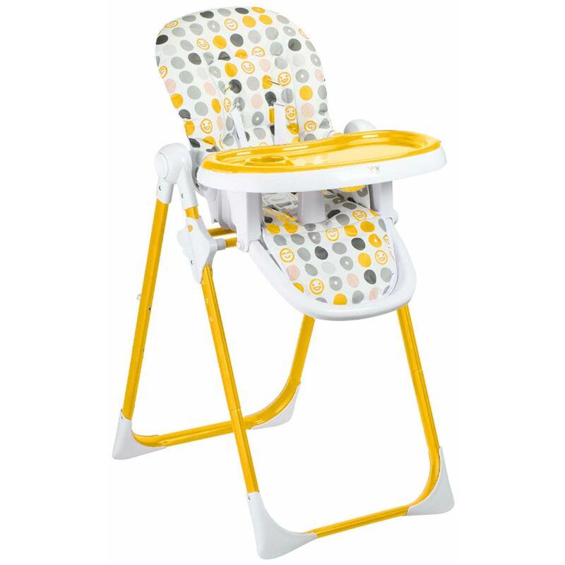 Baby Vivo Chaise Haute pour Bébé / Enfant en Plastique - Tippy en Orange