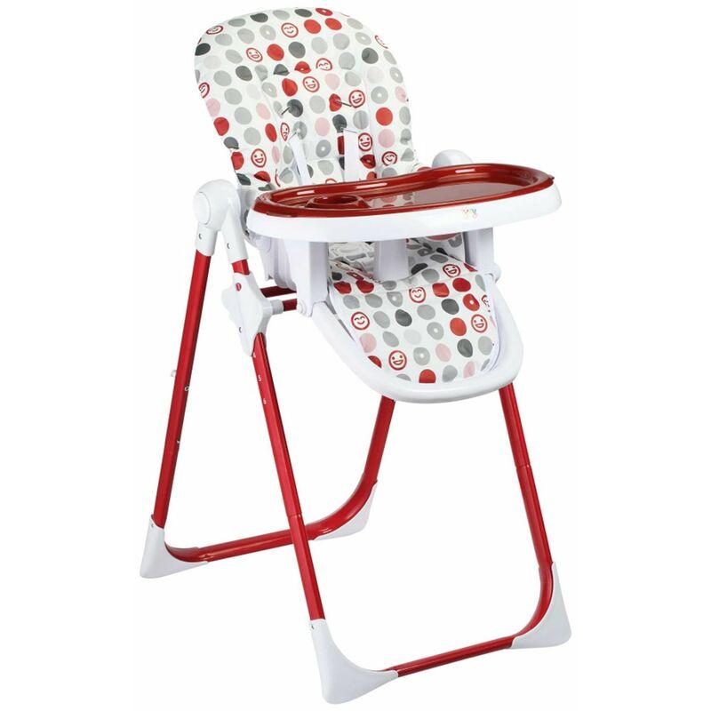 Baby Vivo Chaise Haute pour Bébé / Enfant en Plastique - Tippy en Rouge Foncé