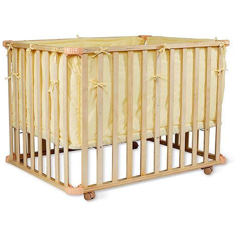 Babybett, Gitterbett, Laufstall, mobiles Kinderbett, Farbe wählbar