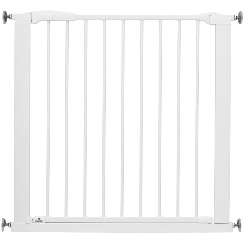 Image of Safety Gate Perfect Close with 2 Extensions 77.3-97.1 cm White - White - Babydan