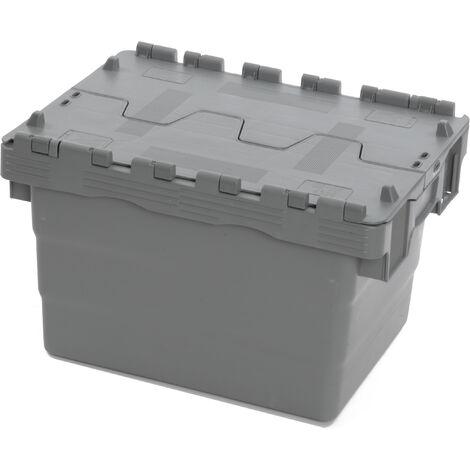 """main image of """"Bac 400x300x250 avec couvercle intégré - gris Multiroir"""""""