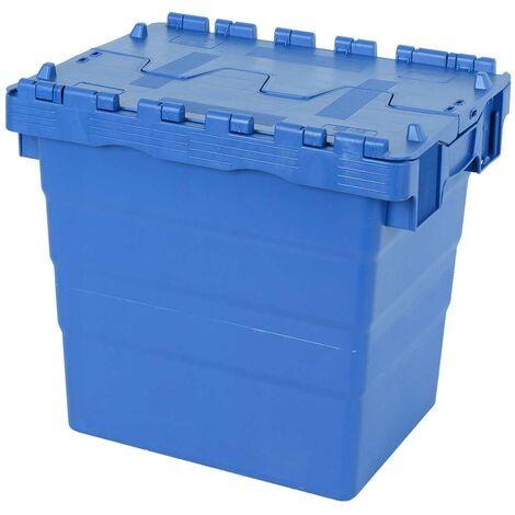 Bac 400x300x365 avec couvercle intégré - bleu Multiroir - Bleu
