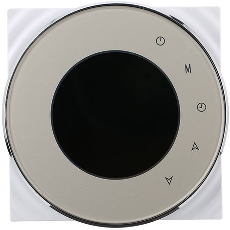BAC-5000 95 ~ 240VAC dos tuberias de calefaccion refrigeracion 5 + 2 programable semanal datos de la memoria Fan Coil unidad central de aire acondicionado HVAC termostato de ambiente, Champagne