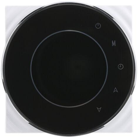 BAC-5000 95 ~ 240VAC dos tuberias de calefaccion refrigeracion 5 + 2 programable semanal datos de la memoria Fan Coil unidad central de aire acondicionado HVAC termostato de ambiente, Negro