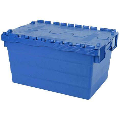 Bac 600x400x320 avec couvercle intégré - bleu Multiroir - Bleu