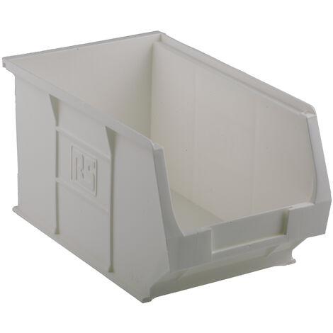 Bac à bec Blanc Plastique, 130mm x 150mm x 240mm empilable