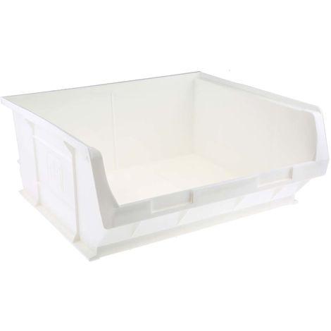 Bac à bec Blanc Plastique, 180mm x 419mm x 376mm empilable