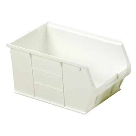 Bac à bec Blanc Plastique, 181mm x 205mm x 350mm empilable