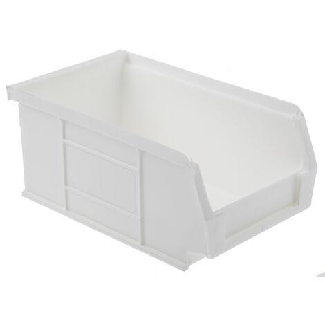 Bac à bec Blanc Plastique, 76mm x 101mm x 167mm empilable