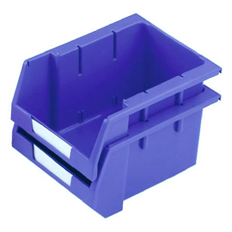 Bac à bec Bleu Plastique, 130mm x 179mm x 250mm empilable