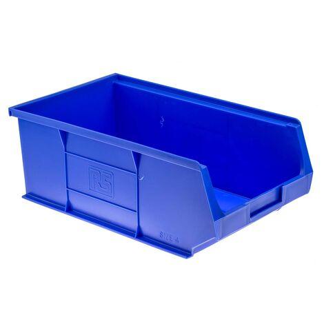 Bac à bec Bleu Plastique, 130mm x 205mm x 350mm empilable