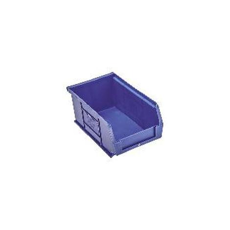 Bac à bec Bleu Plastique, 130mm x 239mm x 349mm empilable