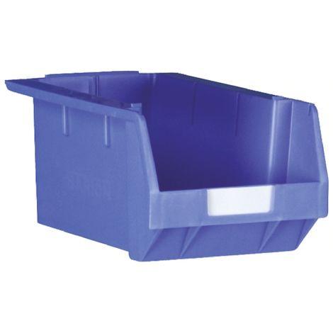 Bac à bec Bleu Plastique, 180mm x 239mm x 349mm empilable