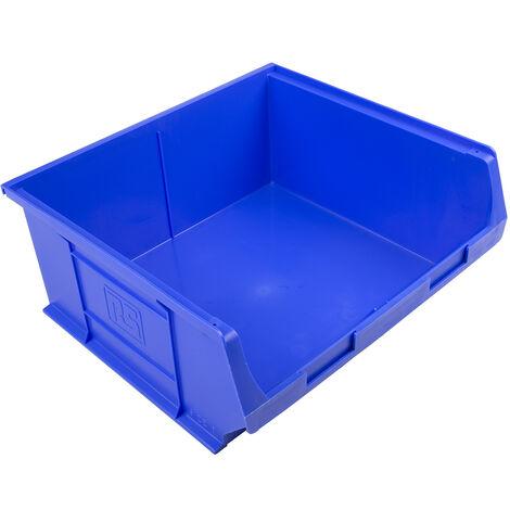 Bac à bec Bleu Plastique, 180mm x 419mm x 376mm empilable