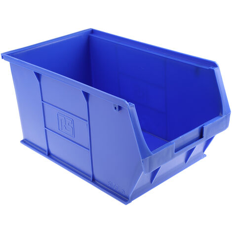 Bac à bec Bleu Plastique, 181mm x 205mm x 350mm empilable
