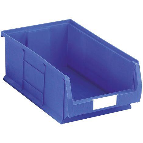 Bac à bec Bleu Plastique, 200mm x 315mm x 510mm empilable