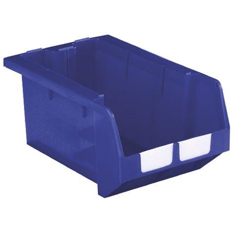 Bac à bec Bleu Plastique, 246mm x 335mm x 510mm empilable
