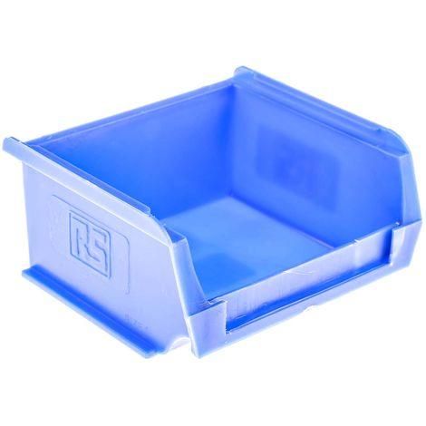 Bac à bec Bleu Plastique, 50mm x 100mm x 90mm empilable