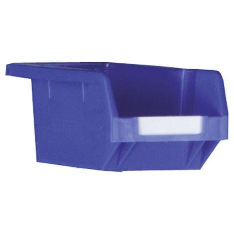 Bac à bec Bleu Plastique, 80mm x 109mm x 172mm empilable