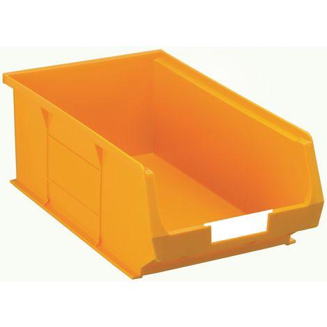 Bac à bec Jaune Plastique, 130mm x 205mm x 350mm empilable