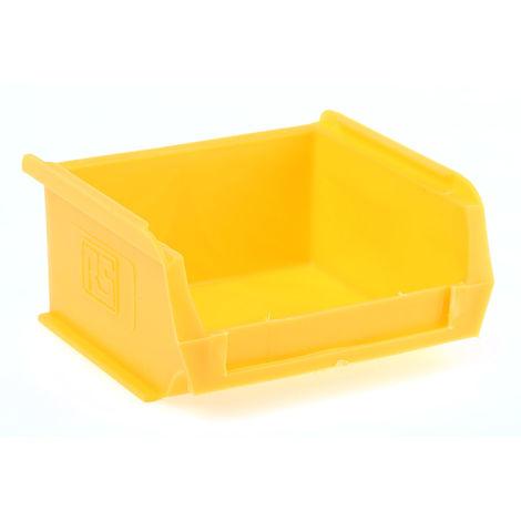 Bac à bec Jaune Plastique, 50mm x 100mm x 90mm empilable