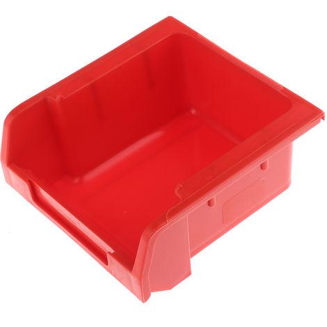 Bac à bec Rouge Plastique, 50mm x 100mm x 103mm empilable