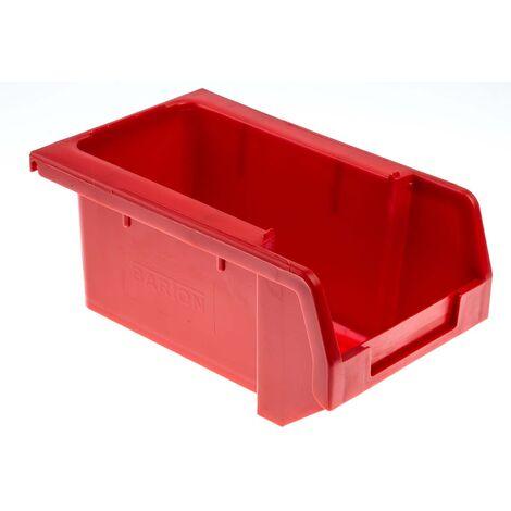 Bac à bec Rouge Plastique, 80mm x 109mm x 172mm empilable