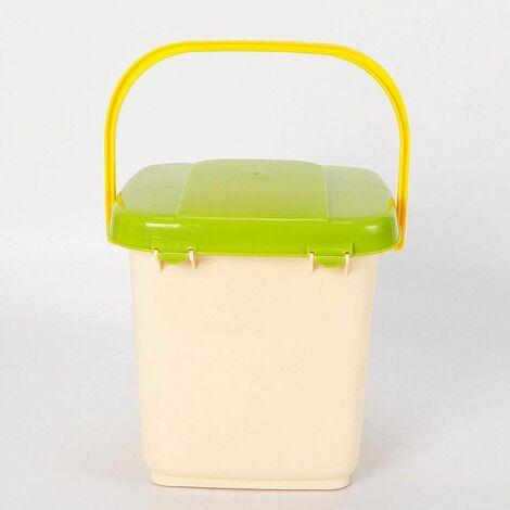 Bac à compost de cuisine de 9 L pour les déchets de cuisine Bio 29 * 30 * 30cm Facilité de stockage/Bac à compost de 9 L en PP 4-6 semaines Temps de compostage court Stockage facile.