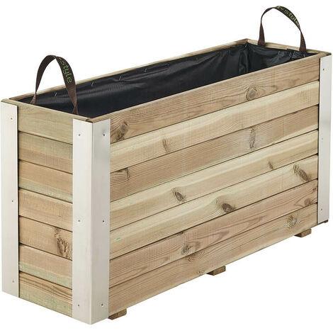 Bac à fleurs Bambou 107L - Epaisseur Des Planches 4.5cm - Traité Autoclave Classe 3