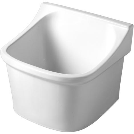 Bac à laver en céramique blanche
