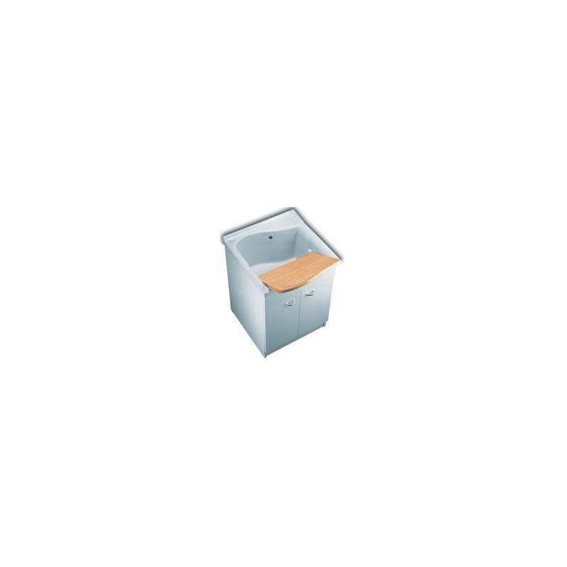 bac laver lago lg 75cm c ramique blanc 1387030. Black Bedroom Furniture Sets. Home Design Ideas