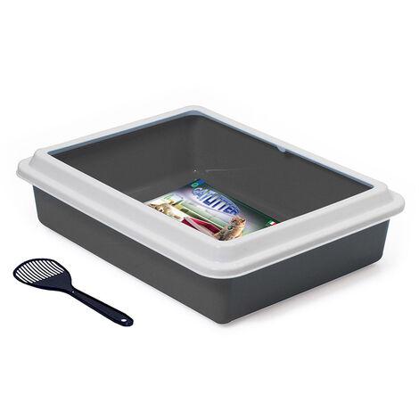 Bac à litière avec pelle - gris