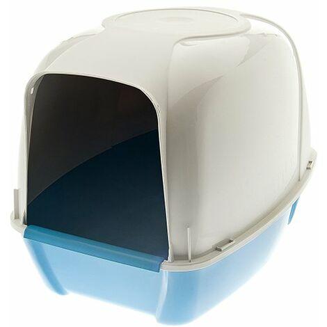 Bac à litière couvert et ouvert modèle KRONO en plastique pour chats