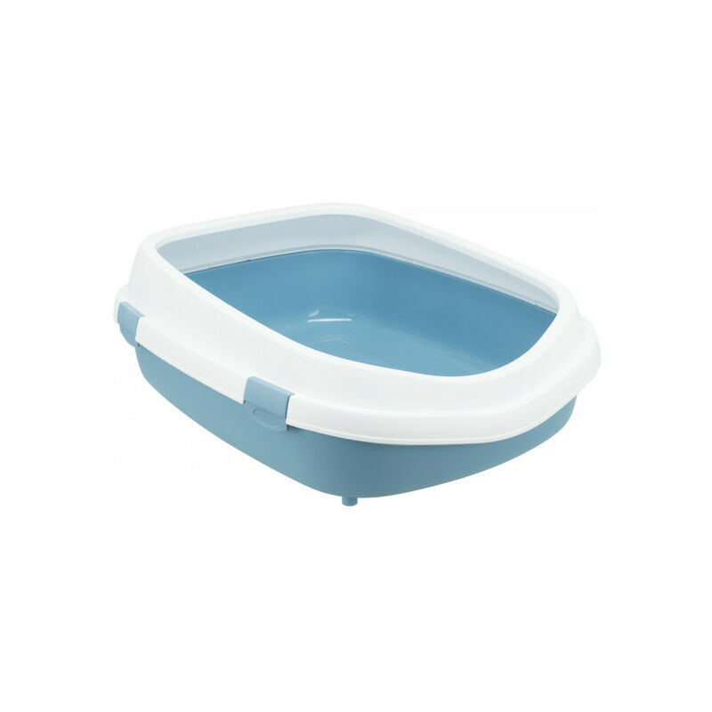 Bac à litière Primo XXL avec haut rebord Bleu / Blanc - Trixie