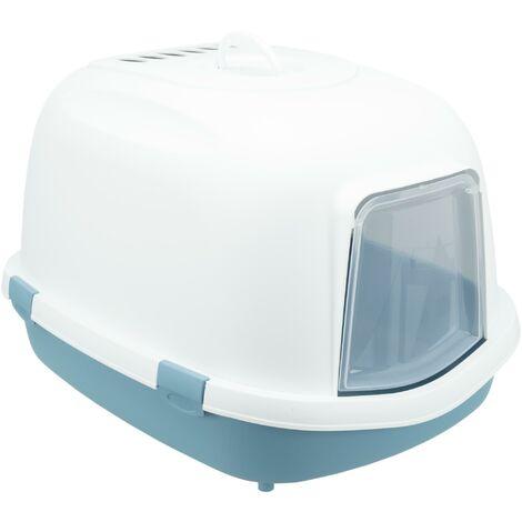 Bac a litiere Primo XXL Top avec couvercle 56 x 47 x 71cm bleu et blanc