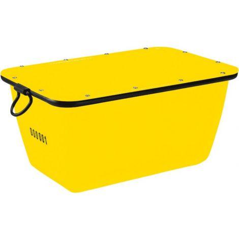 Bac à mortier 200 L, jaune grutables