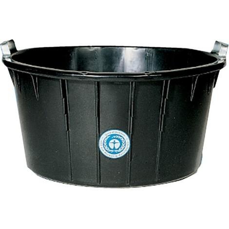 Bac à mortier oval, noir 90 L