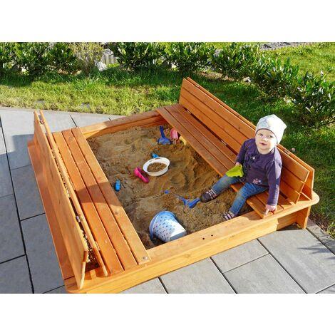 Bac à sable avec banc 196B, disponible en différentes tailles