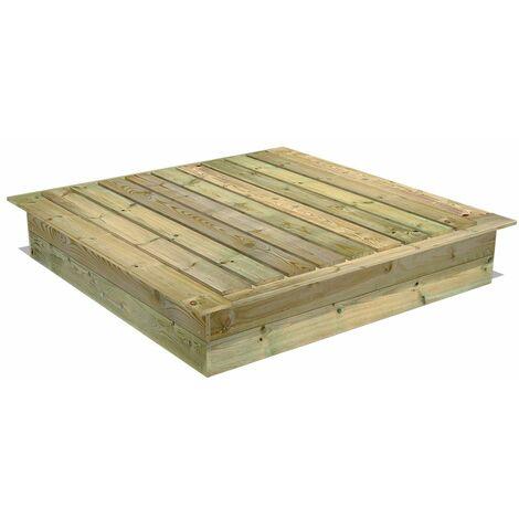 bac sable en bois fatmoose powerpit avec couvercle. Black Bedroom Furniture Sets. Home Design Ideas
