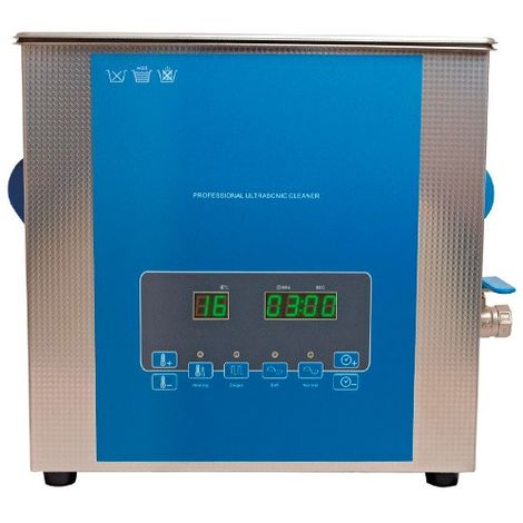 Bac à ultrasons LCD PRO avec chauffage 13L. 400W. 230V - 130889 - D-Work - -