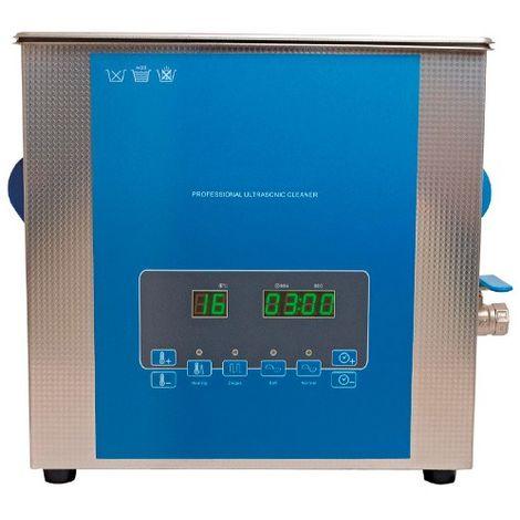 Bac à ultrasons LCD PRO avec chauffage 5L. 300W. 230V - 240889 - D-Work - -