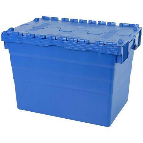 Bac ALC 600x400x416 bleu couvercle crocodile Multiroir - Bleu